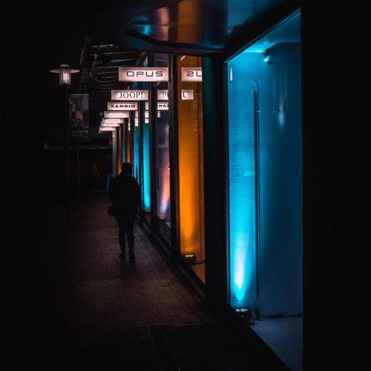 Fotograf Bottrop Recklinghausen leuchtet Gehweg