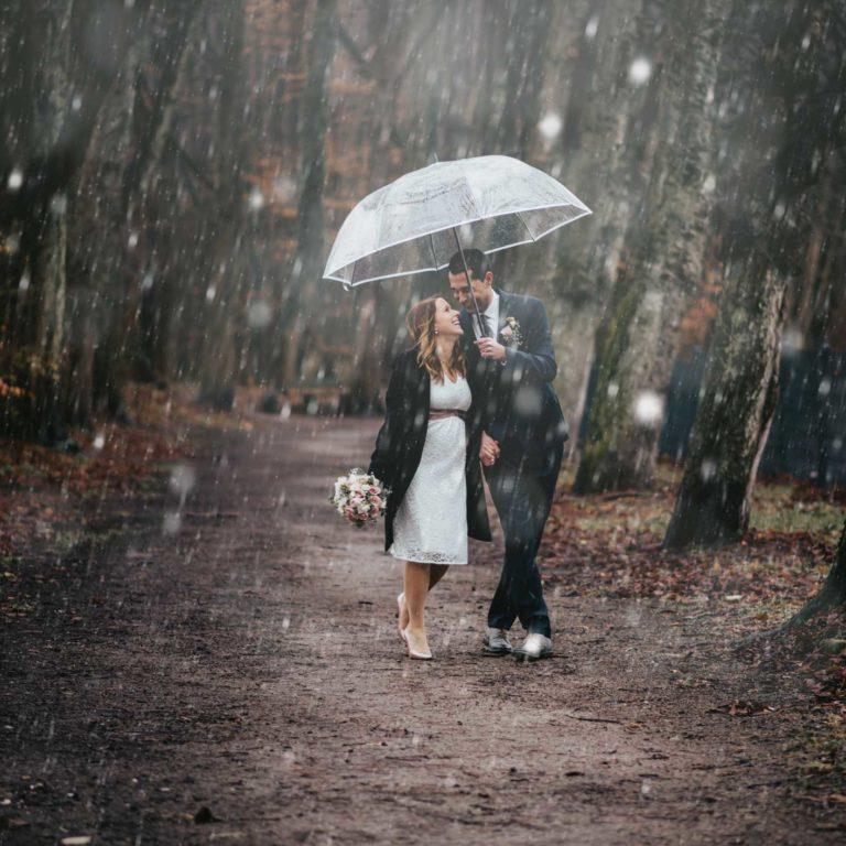 Hochzeitsfotograf Bottrop Hochzeit Paarshooting Regenschirm